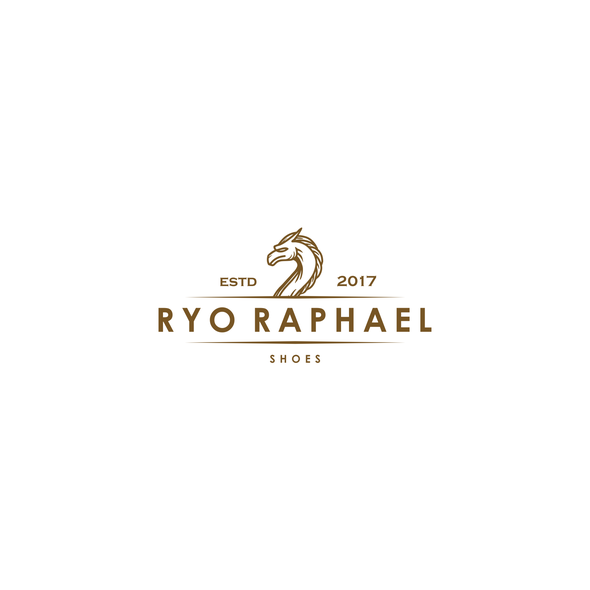 Dragon design with the title 'Classic and luxurious logo concept for shoe brand'