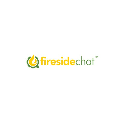 Speech bubble logo with the title 'Logo Design for Fireside Chat'