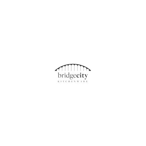 Portland design with the title 'Portland bridge city kitchenware logo'