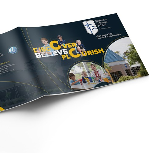 Visual design with the title 'professional magazine templat'