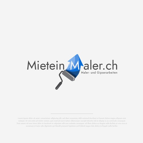 Painter design with the title 'Mietein Maler'