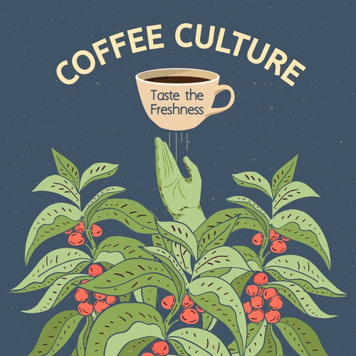 Magazine illustration with the title 'Coffee Culture'
