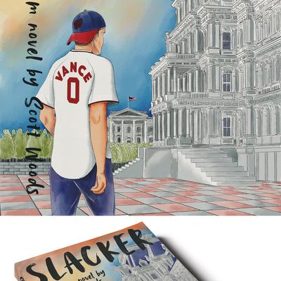 Political Comedy Book Cover Illustration