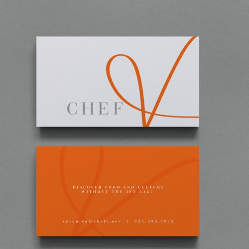 Handmade brand with the title 'Hand drawn logo for a chef'