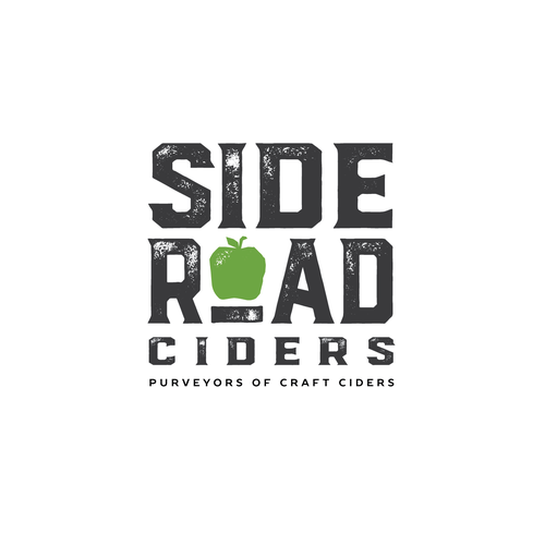 Beer logo with the title 'Craft brew style logo for Side Road Ciders'