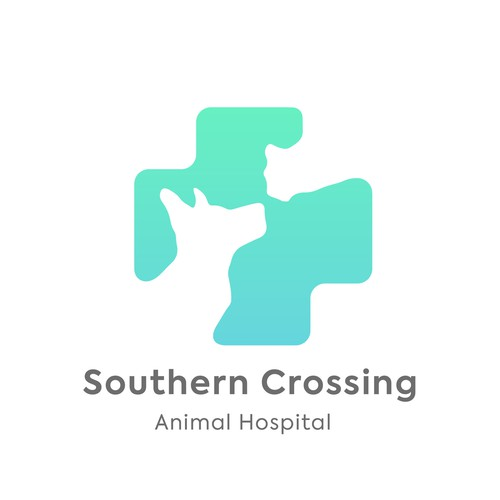 Animal hospital logo with the title 'Southern Crossing Animal Hospital'