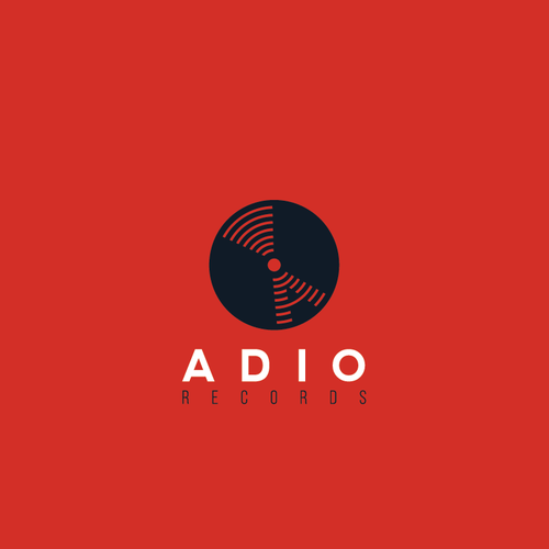 Record label logo with the title 'Audio records logo'