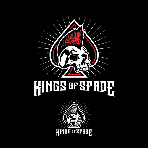 Spades design with the title 'KINGS OF SPADE Logo design'
