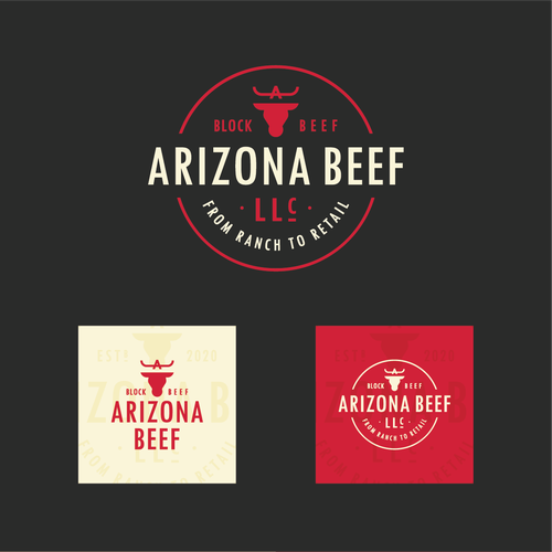 Ranch logo with the title 'Bold logo for Arizona Beef'