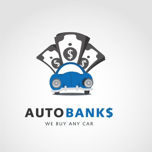Dealership design with the title 'Logo concept for Autobank$'
