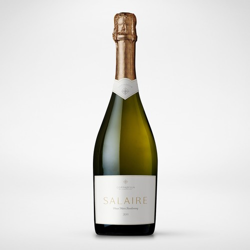 Champagne design with the title 'Prestigious Champagne label'