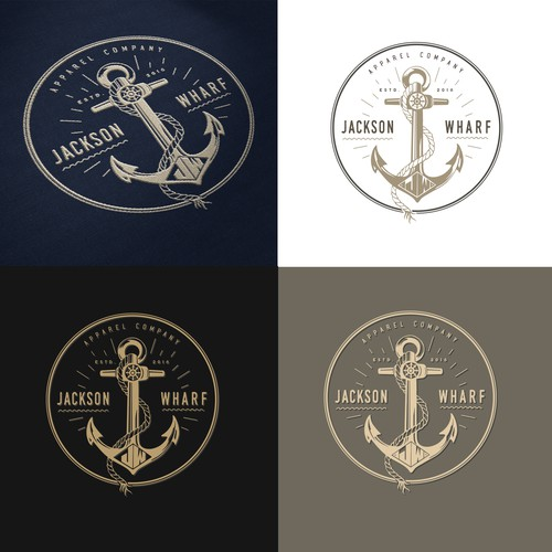 Nautical logo with the title 'Logo design - winner'