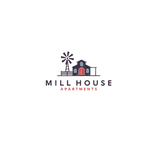Windmill logo with the title 'MILL HOUSE'