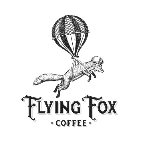 Classic logo with the title 'Flying Fox Coffee'