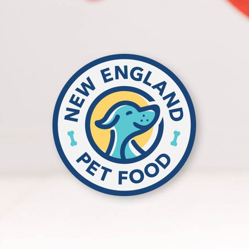 Puppy design with the title 'Logo for the producer of natural dog food.'