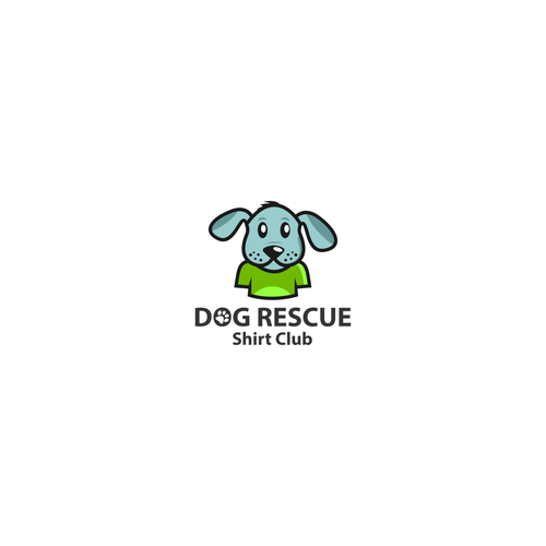 Paw logo with the title 'Dog Rescue Shirt Club Design Character'