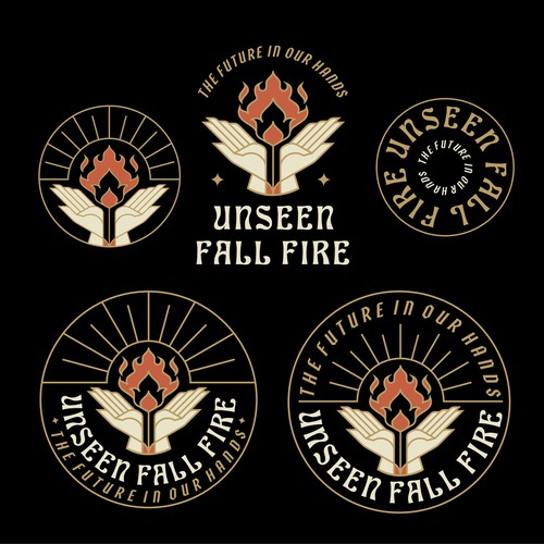 Fire design with the title 'Unseen Fall Fire Event Logo'
