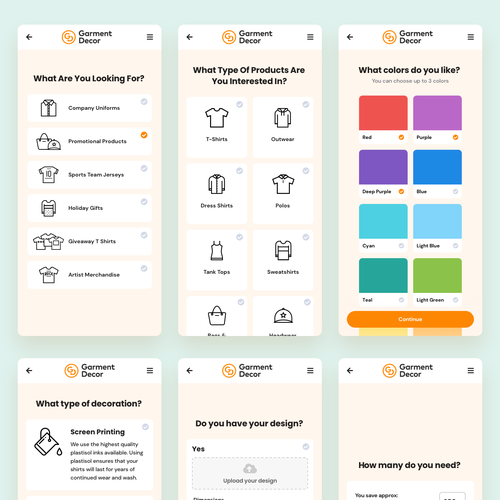 Pricing design with the title 'Interactive Quiz for Getting Quote'