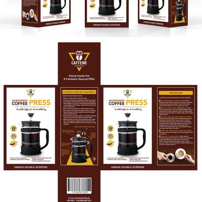 Coffee press, packaging design