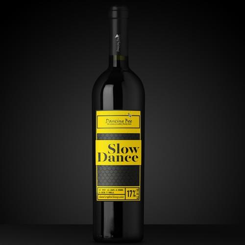 Bright design with the title 'Wine label design'