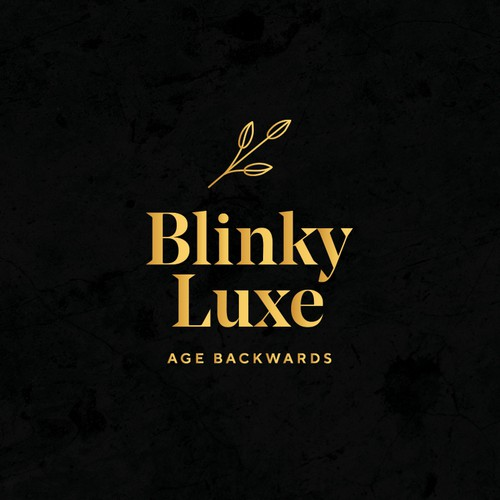 Serif design with the title 'An elegant logo design for a luxury organic face & body serum brand'