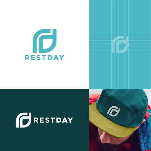 Blueprint logo with the title 'rest day logo concept'