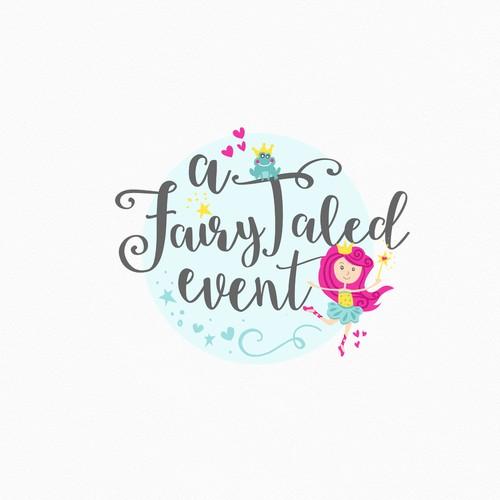 Fairy logo with the title 'Fairy Tale Princess Adventure '