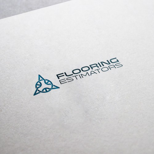 Conceptual logo with the title 'Flooring Estimators'