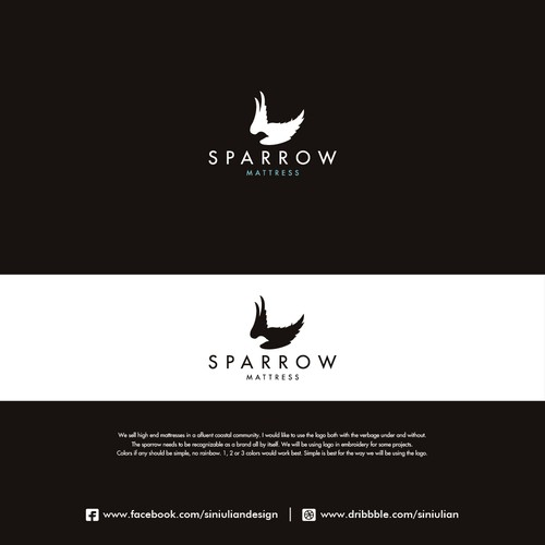Sparrow logo with the title 'Sparrow Mattress'