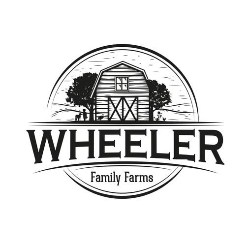 Barn logo with the title 'family farm logo'