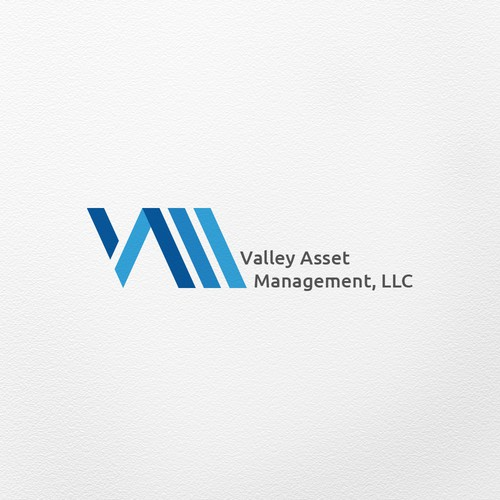 LLC design with the title 'A bold simple logo for an asset management company'