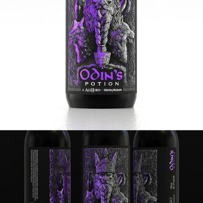Odin的药水 米德标签设计