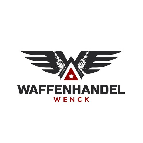 Shooting logo with the title 'Logo for Waffenhandel Wenck'