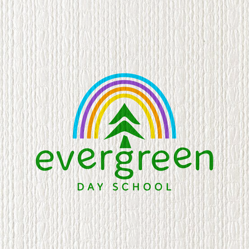 School brand with the title 'evergreen'