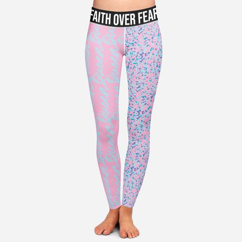 Yoga artwork with the title 'Feminine Grunge Leggings Design'