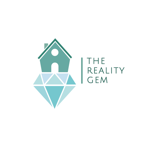 Property management logo with the title 'The Reality Gem'