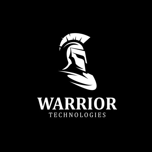 Helmet design with the title 'Logo for Warrior Technologies'