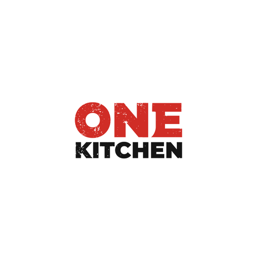 Food logo with the title 'One Kitchen Logo'
