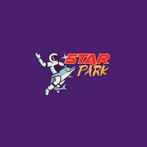 Dolphin logo with the title 'Star Park astronaut'