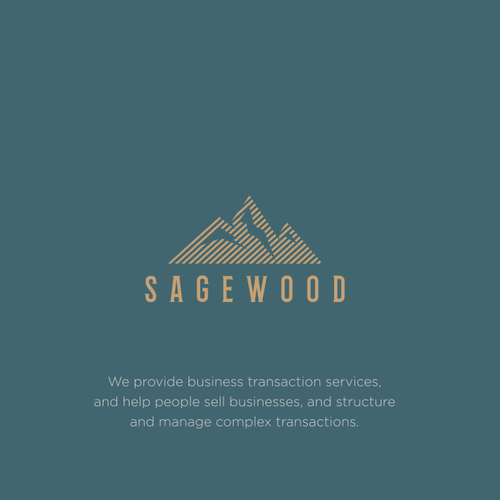 Mountain logo with the title 'Sagewood'
