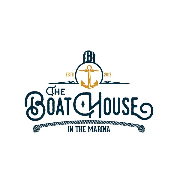 Marina logo with the title 'The BoatHouse'