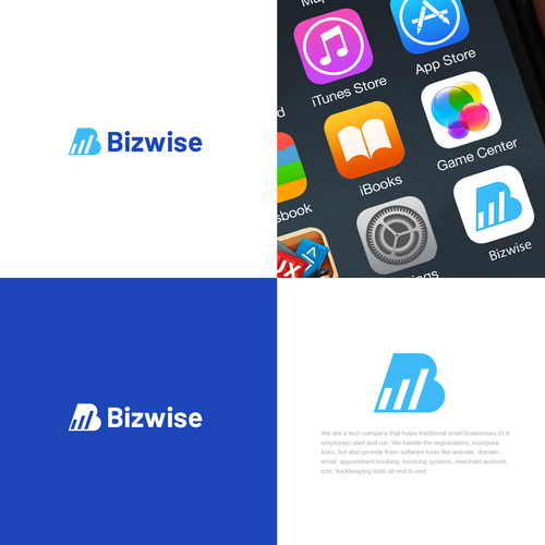 Simple design with the title 'Bizwise'