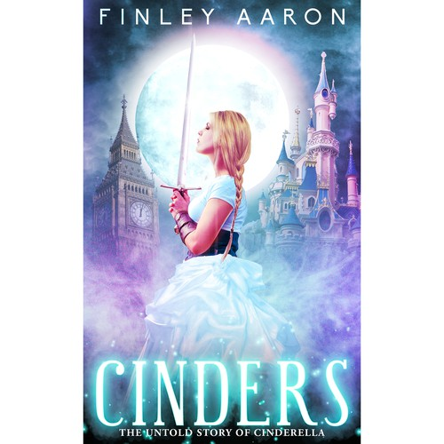Night book cover with the title 'Cinders.'