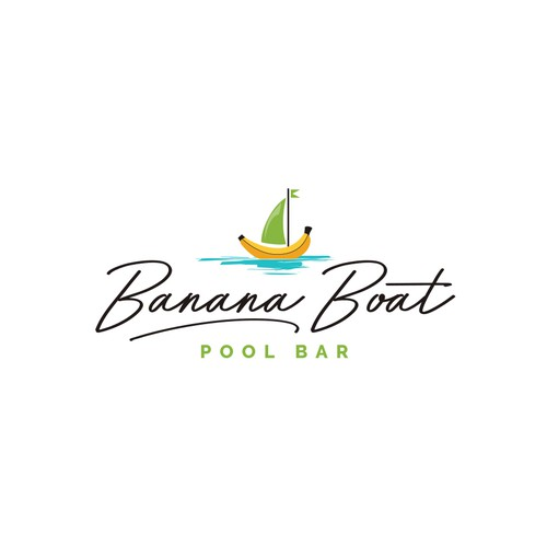 Ferry logo with the title 'Logo for a cool and fun pool bar'