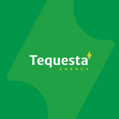 Volt design with the title 'Tequesta Energy Logo Design Proposal (For Sale)'