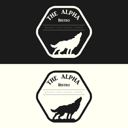 Alpha design with the title 'Alpha Bistro Logo'