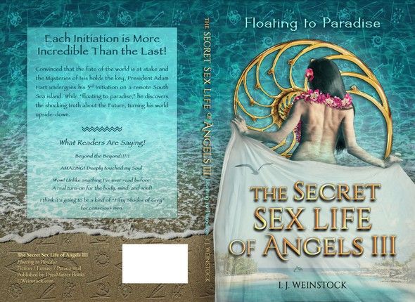 """Polynesian design with the title 'Book 3 """"Floating to Paradise"""" of the Secret Sex Life of Angels'"""