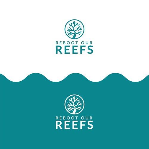 Reef logo with the title 'Coral logo '