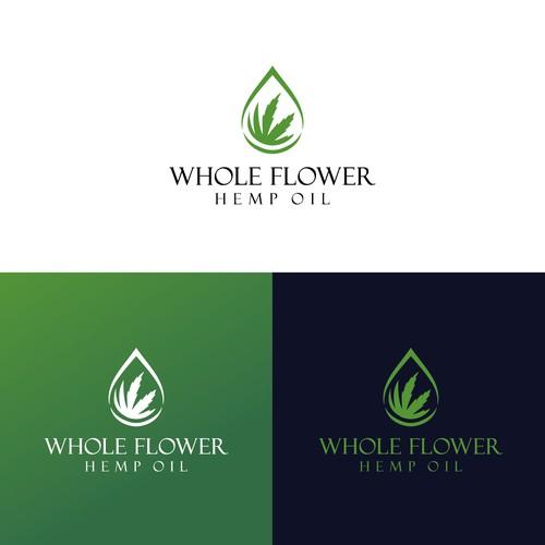 Hemp oil logo with the title 'Whole Flower Hemp oil logo'