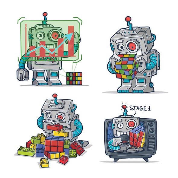 Robot design with the title 'Robots'